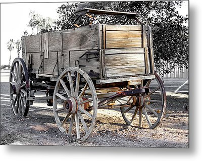 California Farm Wagon Metal Print