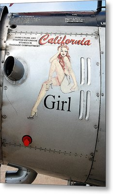 California Girl Metal Print