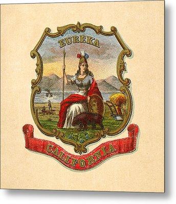 California Historical Coat Of Arms Circa 1876 Metal Print