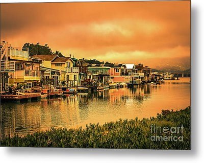 California Houseboats Metal Print by Claudia M Photography