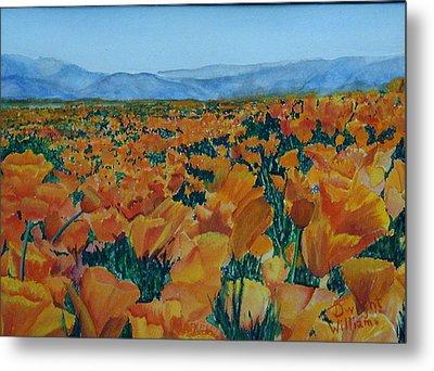 California Poppies Metal Print by Dwight Williams