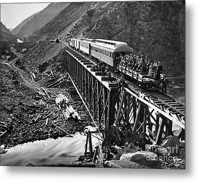 California: Railroad, 1869 Metal Print by Granger