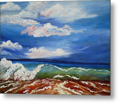 California Seascape Metal Print