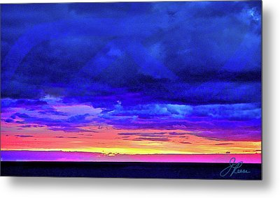Metal Print featuring the painting California Sunrise by Joan Reese