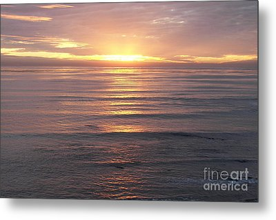 Metal Print featuring the photograph California Sunset by Carol  Bradley