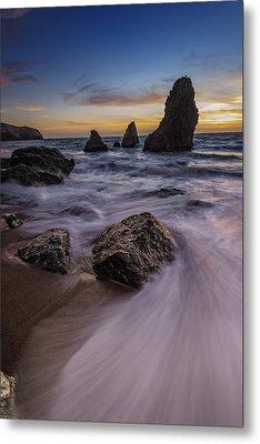 California Sunset On Rodeo Beach Metal Print by Rick Berk