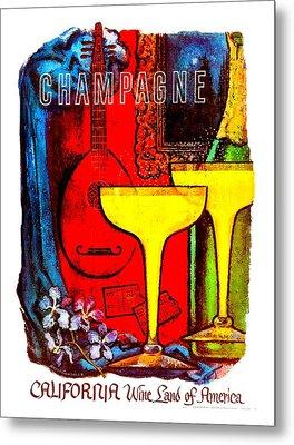 California Wine Board 1950s Wine Land Of America Number 5 Metal Print