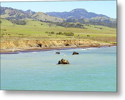 Metal Print featuring the photograph California's Central Coast by Art Block Collections