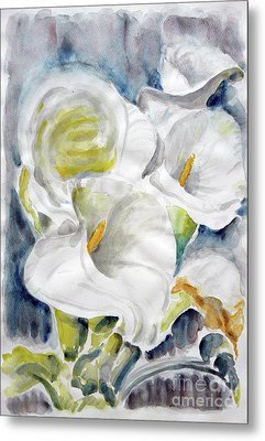 Metal Print featuring the painting Calla by Jasna Dragun