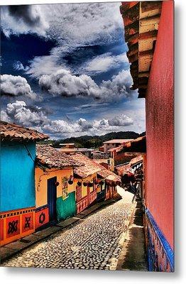 Calle De Colores Metal Print by Skip Hunt