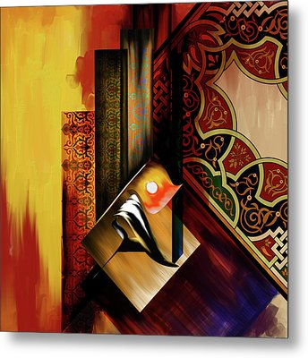 Metal Print featuring the painting Calligraphy 102  2 1 by Mawra Tahreem