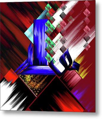 Metal Print featuring the painting Calligraphy 105 3 by Mawra Tahreem