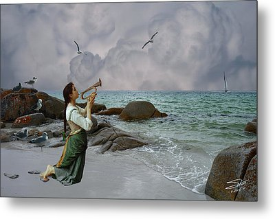 Calling Out To Sea Metal Print by Spadecaller