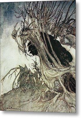 Calling Shapes And Beckoning Shadows Dire Metal Print by Arthur Rackham