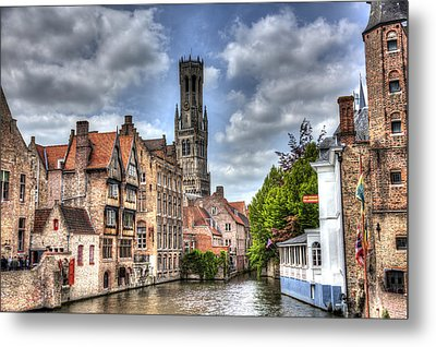 Metal Print featuring the photograph Calm Afternoon In Bruges by Shawn Everhart