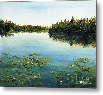 Metal Print featuring the painting Calm by Arturas Slapsys