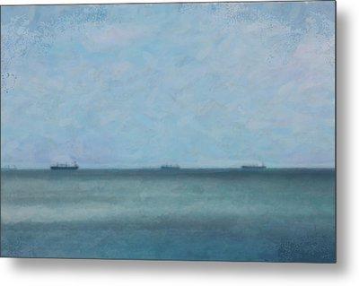 Calm Blue Lake 3 Metal Print by Chamira Young