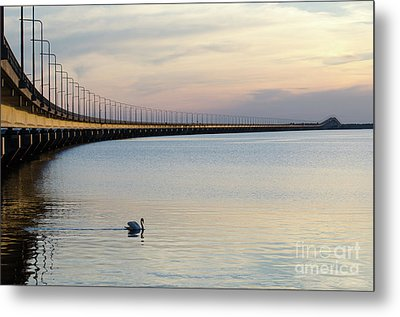 Metal Print featuring the photograph Calm Evening By The Bridge by Kennerth and Birgitta Kullman