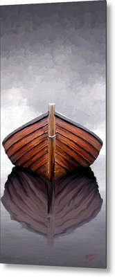 Metal Print featuring the painting Calm by James Shepherd