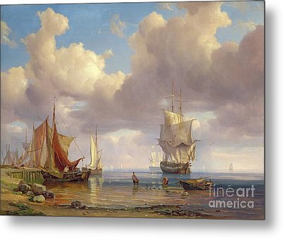 Calm Sea Metal Print by Adolf Vollmer