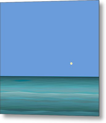 Metal Print featuring the digital art Calm Sea - Square by Val Arie