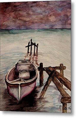 Metal Print featuring the painting Calm Waters by Lil Taylor
