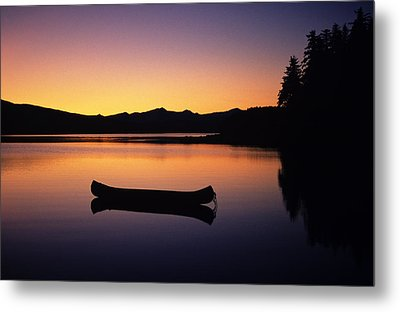 Calming Canoe Metal Print by John Hyde - Printscapes