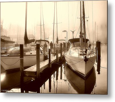 Metal Print featuring the photograph Calmly Docked by Brian Wallace