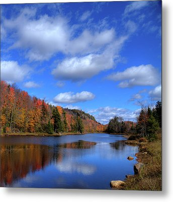 Calmness On Bald Mountain Pond Metal Print by David Patterson