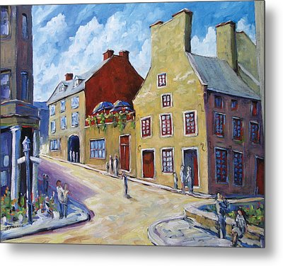 Calvet House Old Montreal Metal Print by Richard T Pranke