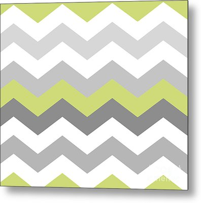 Calyx Chevron Pattern Metal Print by Mindy Sommers