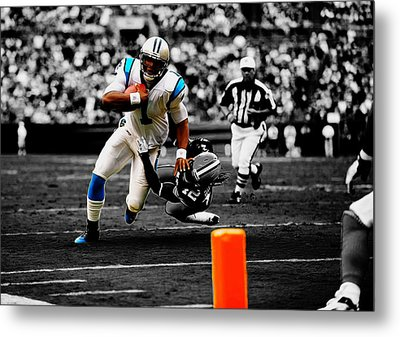 Cam Newton Eye On The Prize Metal Print