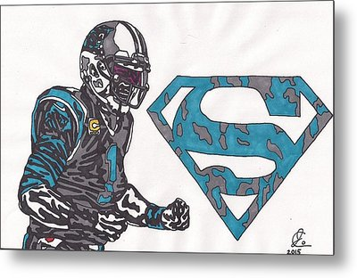 Cam Newton Superman Edition Metal Print by Jeremiah Colley
