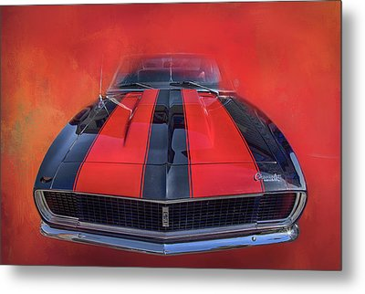 Camaro - Forged By Fire Metal Print by Theresa Tahara