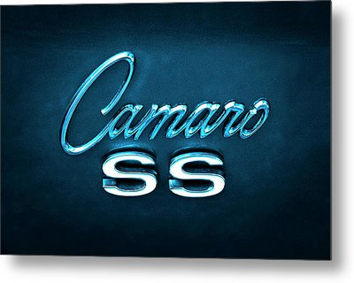 Metal Print featuring the photograph Camaro S S Emblem by Mike McGlothlen