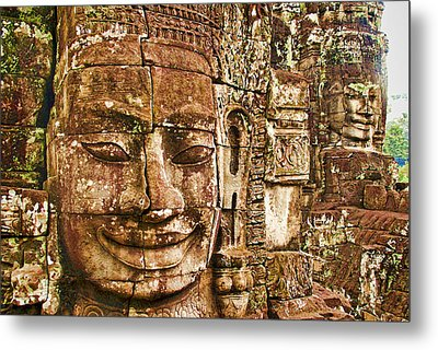 Cambodia Faces  Metal Print by Dennis Cox WorldViews