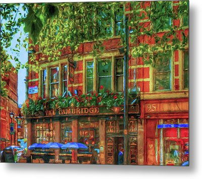 Cambridge Circus Stroll  Metal Print by Connie Handscomb