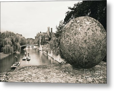 Metal Print featuring the photograph Cambridge Punting  by Eden Baed