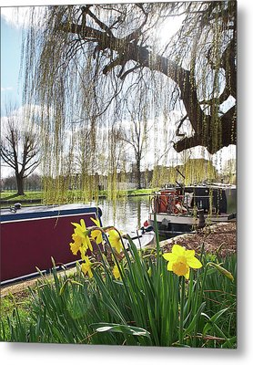 Metal Print featuring the photograph Cambridge Riverbank In Spring by Gill Billington