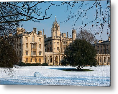 Cambridge Snowscape Metal Print