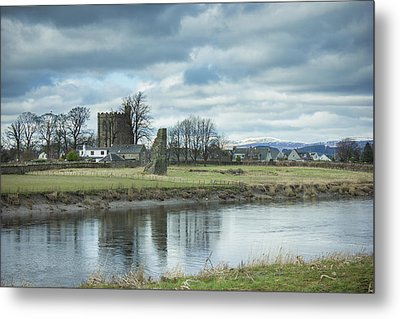 Cambuskenneth Abbey And The River Forth Metal Print