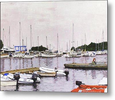 Camden Maine Marina Metal Print by Thomas Michael Meddaugh