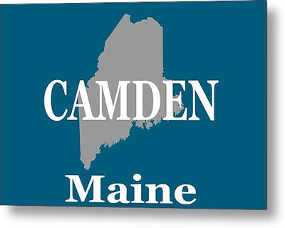 Metal Print featuring the photograph Camden Maine State City And Town Pride  by Keith Webber Jr