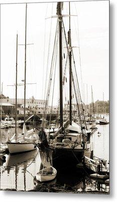 Camden Ships Metal Print by Linda Olsen