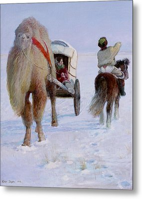 Camel Car Metal Print