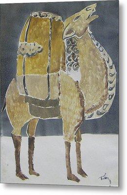 Camel Facing Right Metal Print