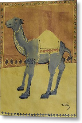 Camel With Diamonds Metal Print