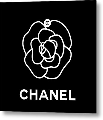 Camellia Chanel Metal Print by Tres Chic
