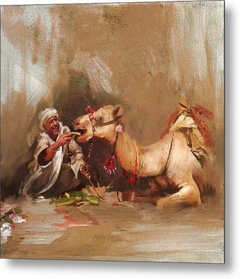 Camels And Desert 13 Metal Print by Mahnoor Shah
