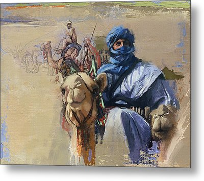 Camels And Desert 4 Metal Print by Mahnoor Shah